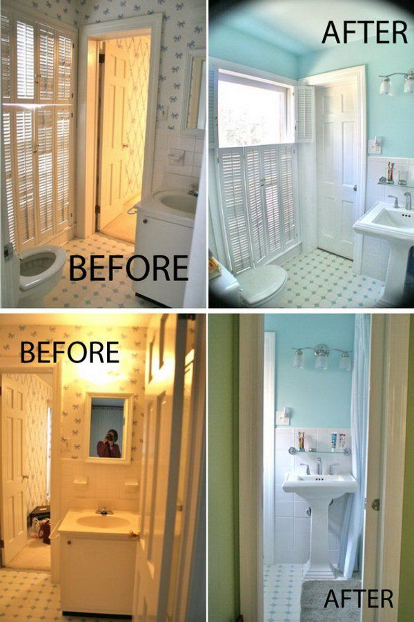 Inspirational Small Bathroom Remodel Before And After Pinterest - Bathroom remodel before and after pics