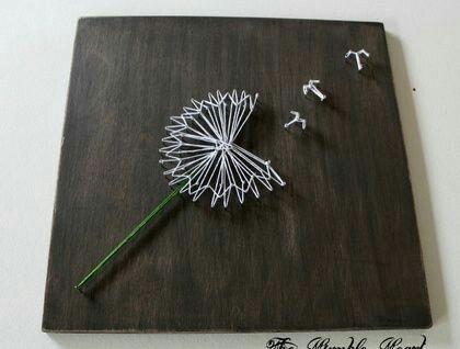 Pusteblume basteln pinterest string art craft and - Pusteblume basteln ...