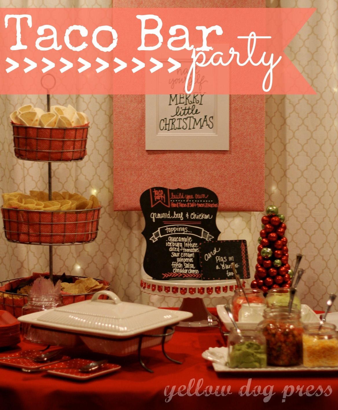 Taco Bar Party Kitchen Pinterest Taco bar party