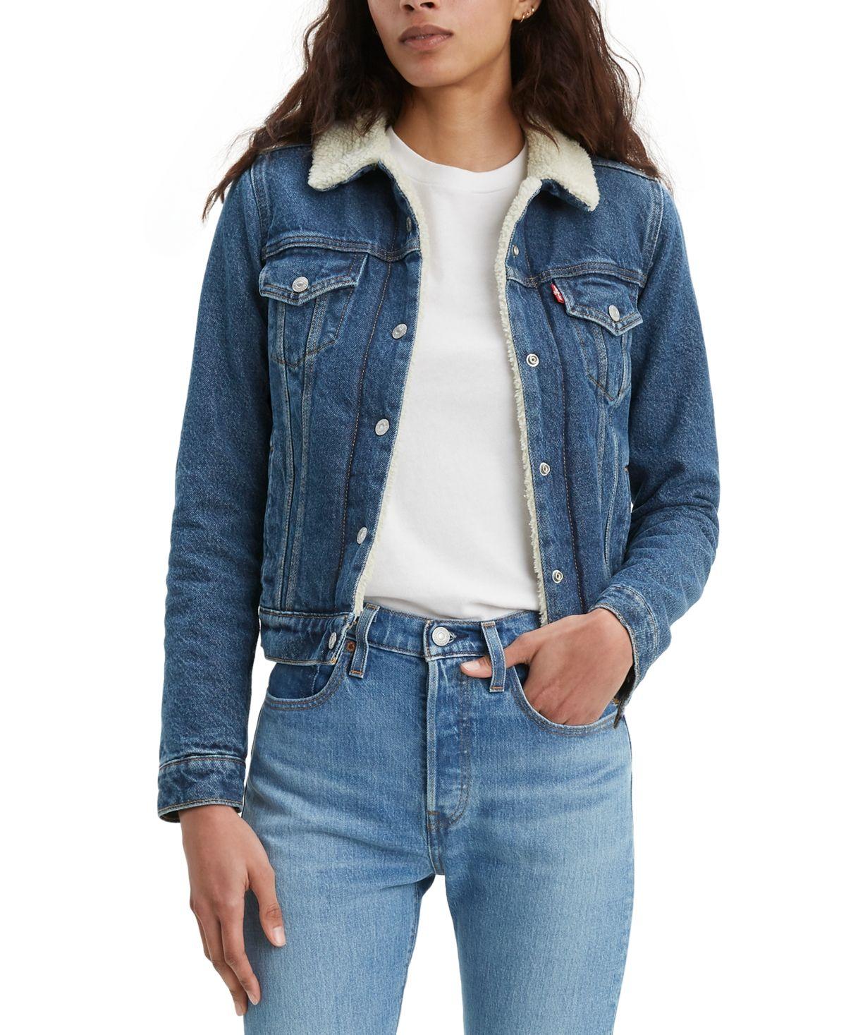 The Jacket I Have In The Brick Mortar Shade Jacket Outfit Women Fur Lined Denim Jacket Denim Jacket Women [ 1467 x 1200 Pixel ]
