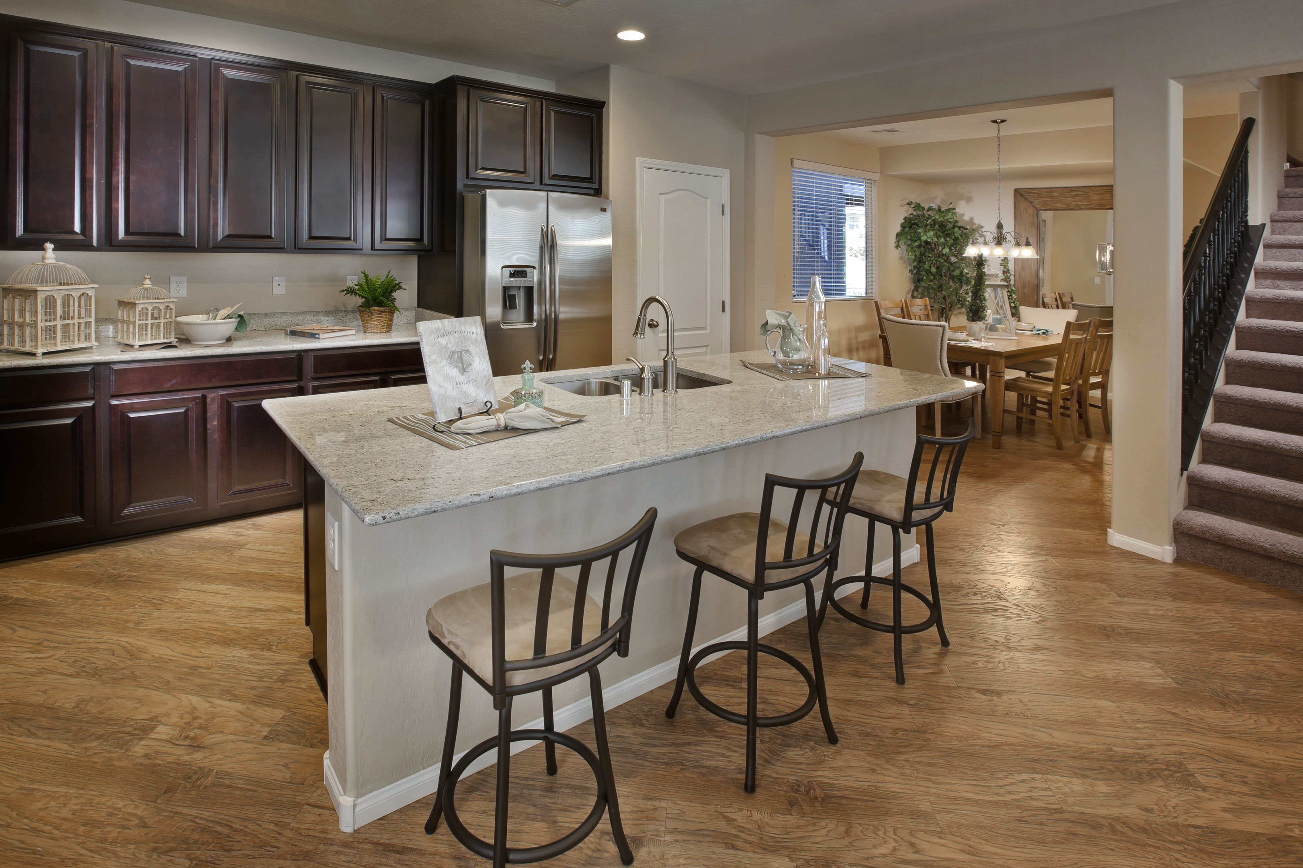 Large Kitchen Island With Sink And Cabinets Galore At Ladera Terrace In Summerlin Kitchen Island With Sink Large Kitchen Island Large Kitchen