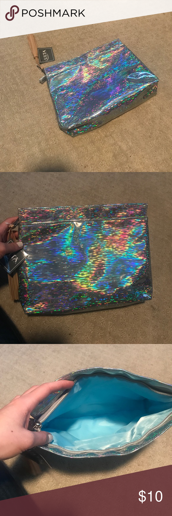 NWT holographic makeup bag Brand new holographic makeup