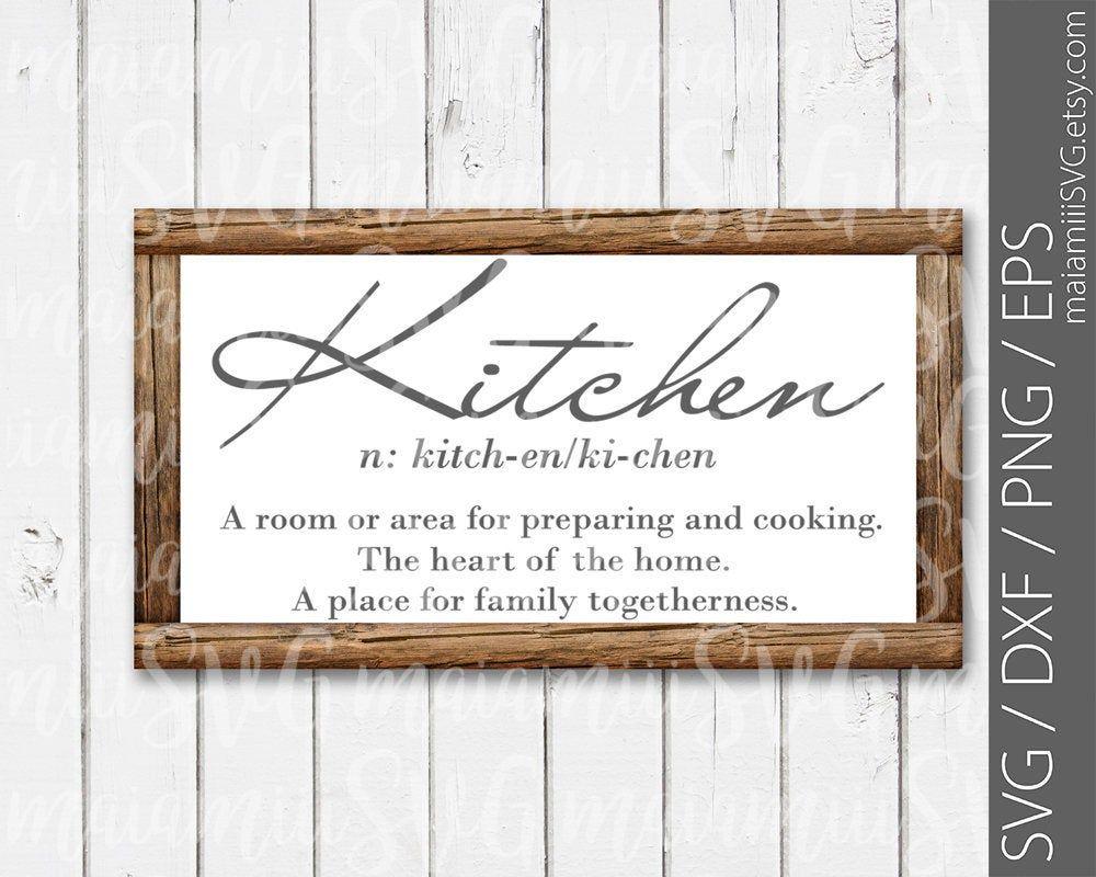 Kitchen svg, Home svg, Farmhouse svg, Kitchen Sign