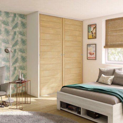 Porte De Placard Coulissante Spaceo L.97.5 X H.250 Cm   Chambres