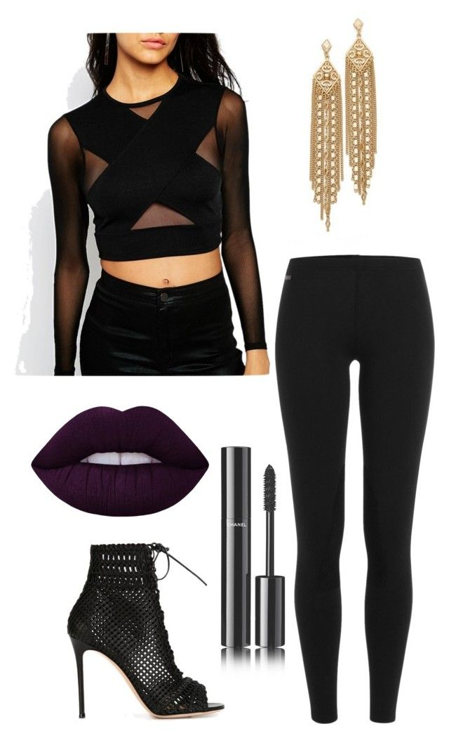 """Untitled #230"" by valerialoman on Polyvore featuring ASOS, Polo Ralph Lauren, Gianvito Rossi, Lime Crime, Chanel and Capwell + Co"