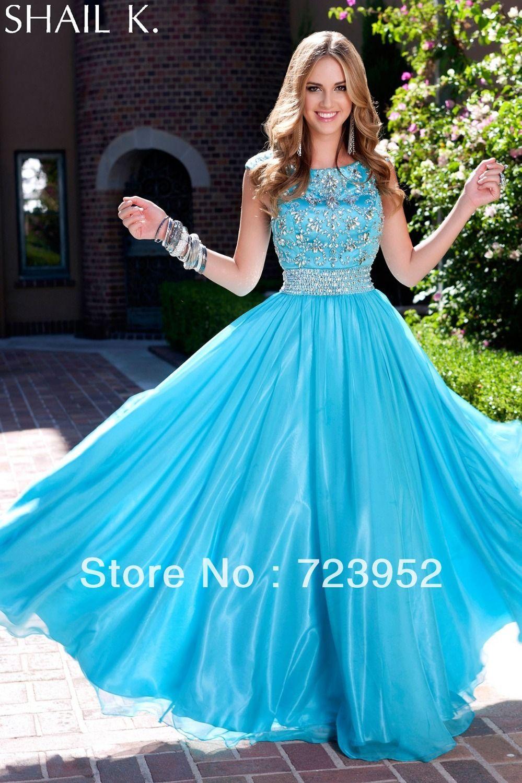 K fashion prom dresses high neckline