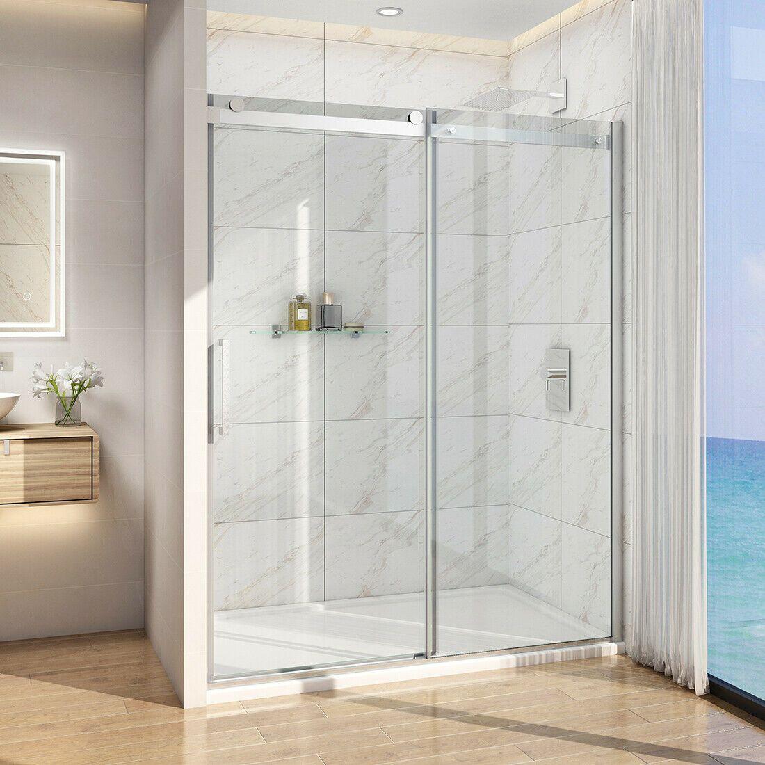 Details About Frameless Sliding Shower Doors Screen 5 16 Clear