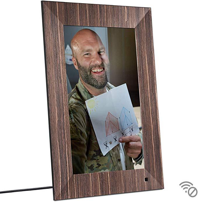 Amazon Com Nix Lux 13 Inch Usb Digital Photo Frame Wood Full Hd Ips Display Auto Rotate Motion Sensor Rem Digital Picture Frame Frame Digital Photo Frame