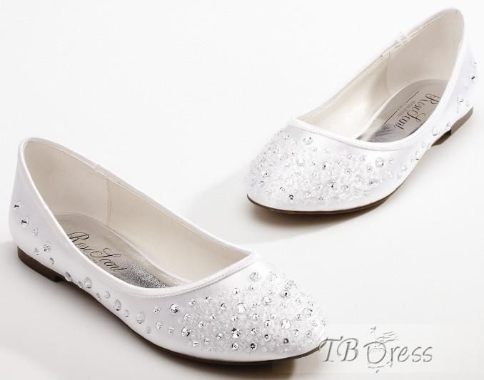 5337f039d35c Fabulous Wedding Party Beading Flat Shoes