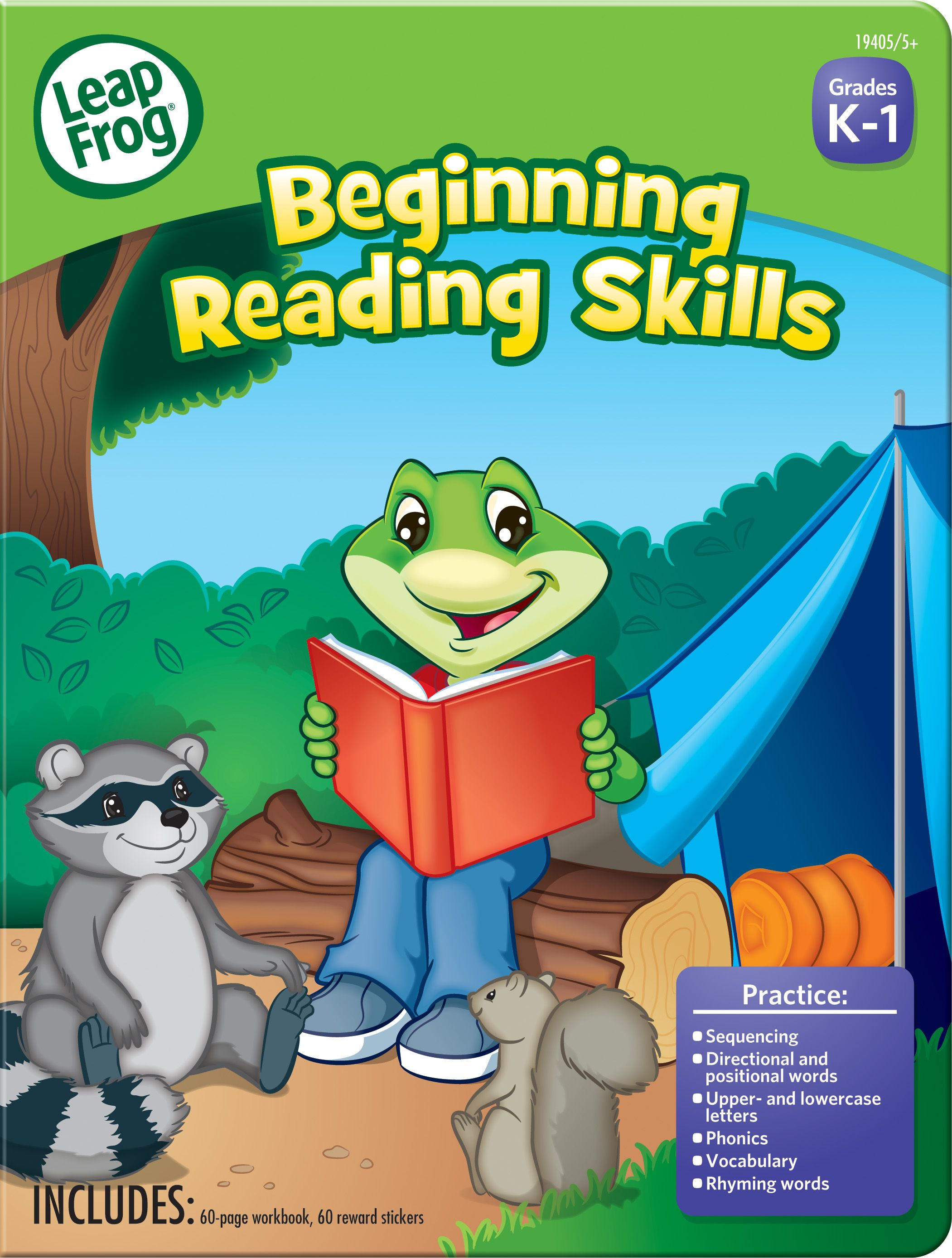 The LeapFrog® Beginning Reading Skills workbook reinforces key ...