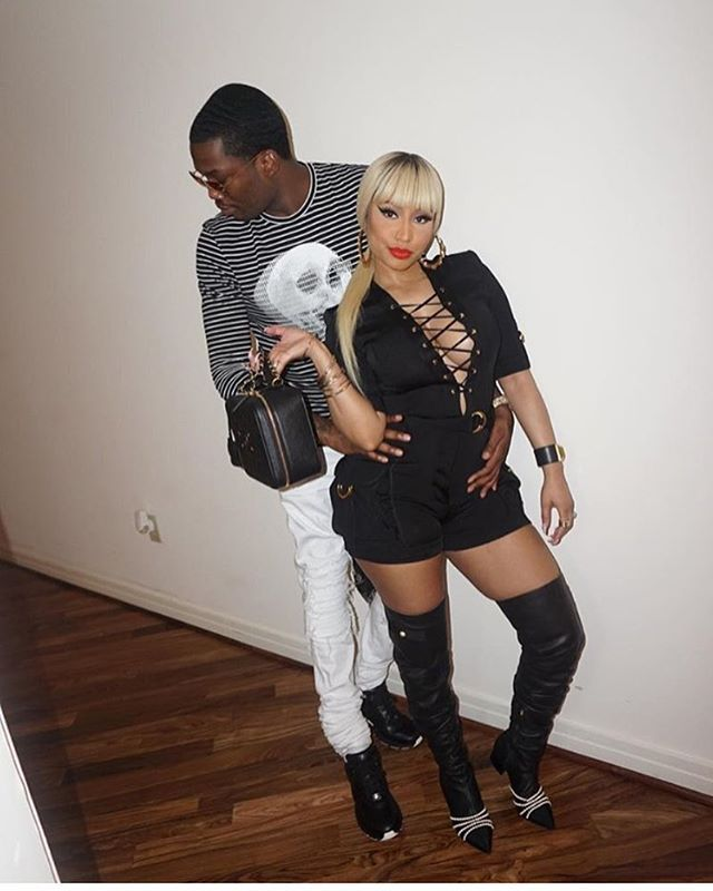 #NickiMinaj headed out in a #Balmain jumpsuit and #Chanel boots that aren't out yet. Must be nice....