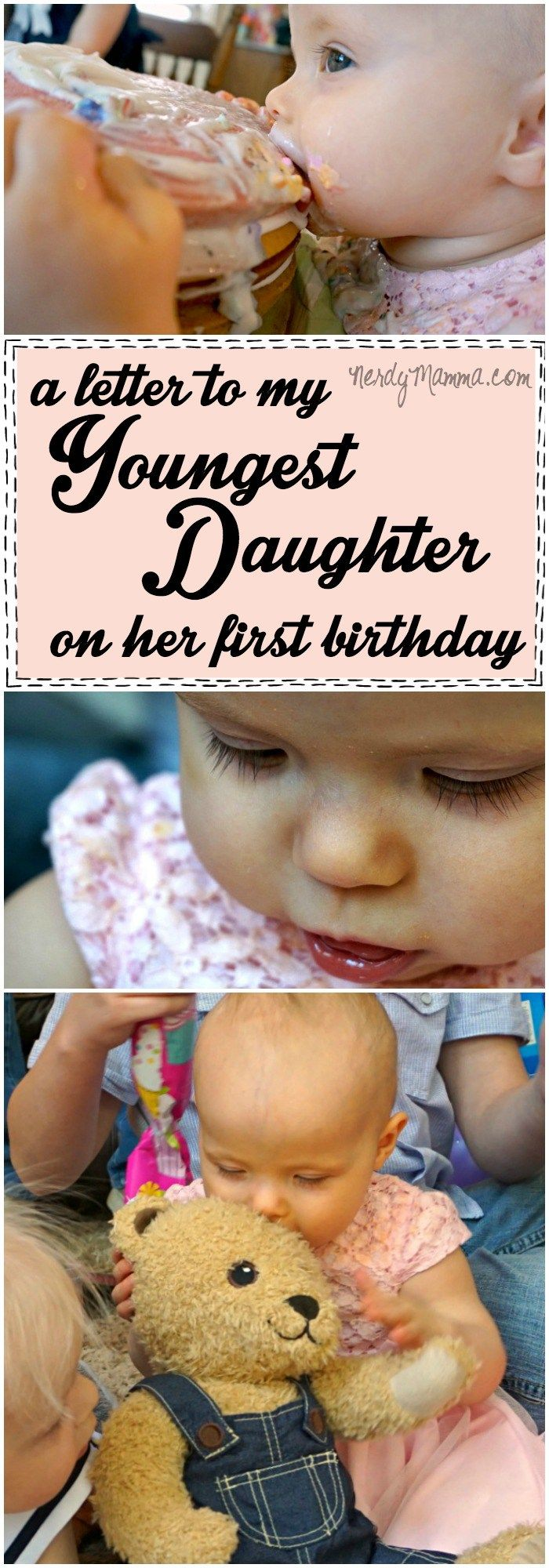 I love this letter to her youngest daughter...so sweet. It made me cry.