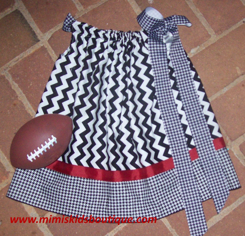 Alabama Chevron Gameday Pillowcase  Dress.