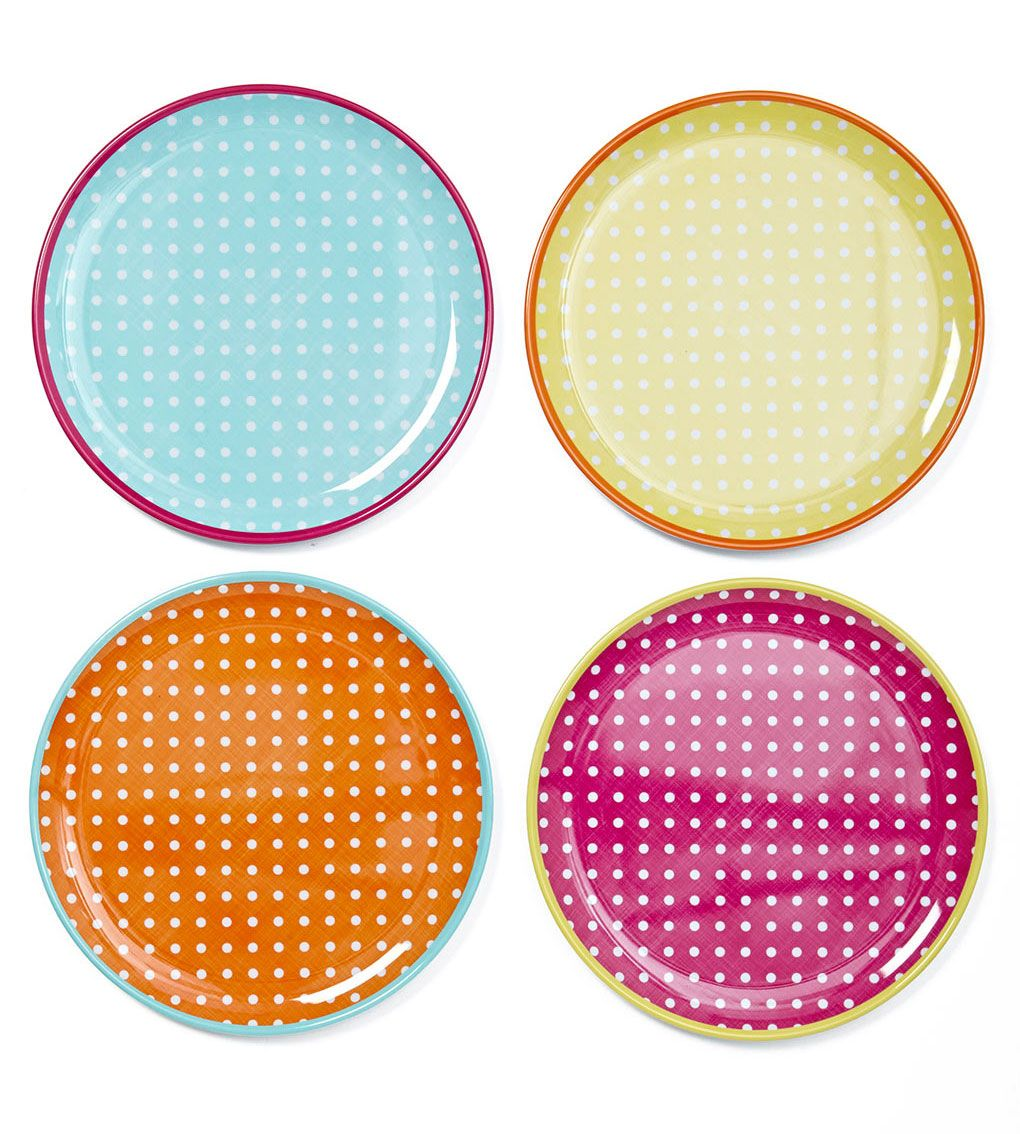 Set of four polka dot melamine dinner plates @ BHS Was Now  sc 1 st  Pinterest & Pin by Camping with Style on CWS ? Stylish PicNic u0026 Tableware ...