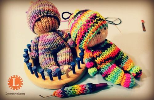 Amigurumi Loom Patterns : Loom knit dolls amigurumi u2026 pinteresu2026