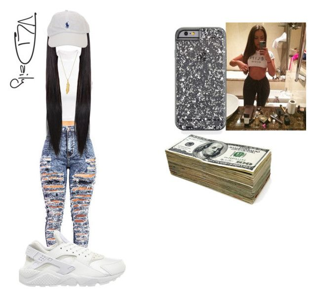 Can't Finesse A Finesser by itssherr on Polyvore featuring H&M, NIKE and ChloBo