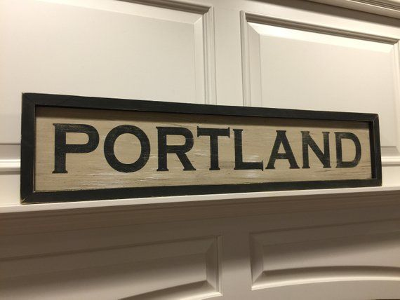 Best Portland Maine Distressed Sign Cabin Signs Distressed 400 x 300