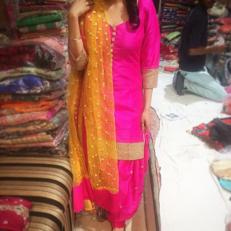 A beautiful and simple salwar kameez by Madaan Cloth House ...