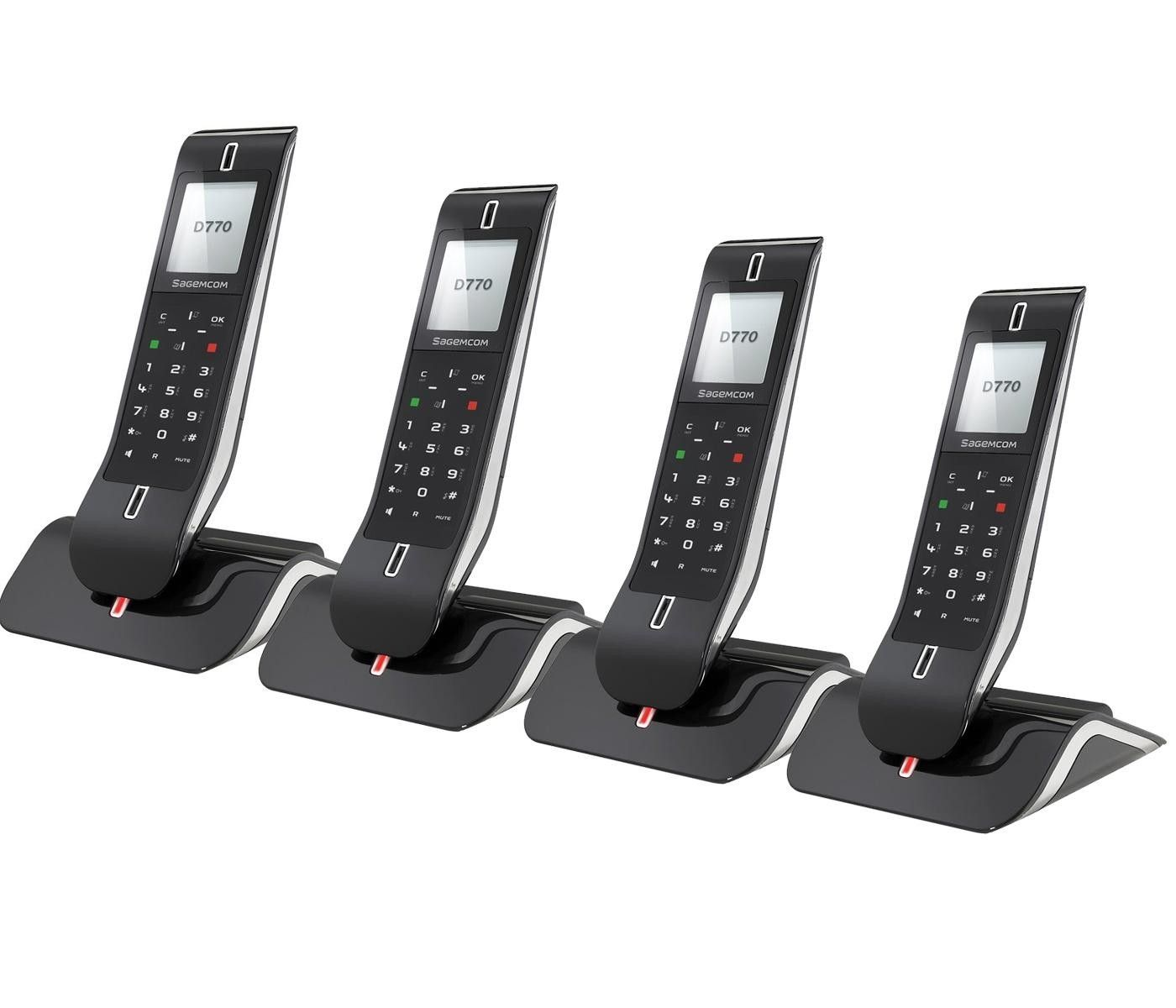 D770A Quad Digital Cordless Answerphone from