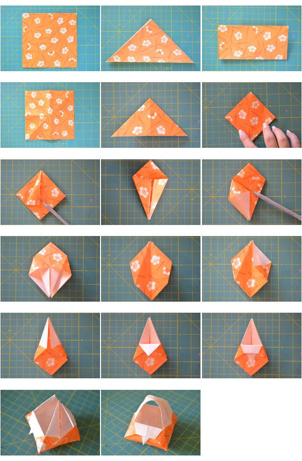 Step By Origami Basket