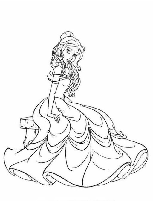 Disney Prinzessinnen 10 | coloring 5 | Pinterest | Disney prinzessin ...