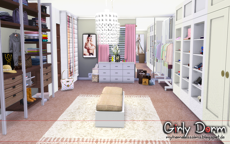 """from the lot """"Girly Dorm"""" Casa sims, Sims, The sims"""