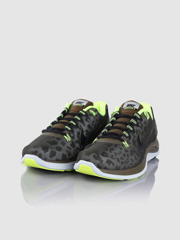 quality design 75e44 a07b7 Nike - Lunarglide 5 Shield 3M Cheetah Dark Loden Black Volt   These might  be my next babies.