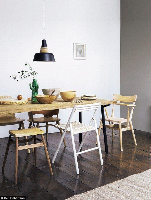 DINING TABLE, £1,399, Healu0027s. PENDANT LIGHT, £125, Rockett St
