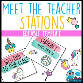 Magical Unicorn Themed - Meet the Teacher Night