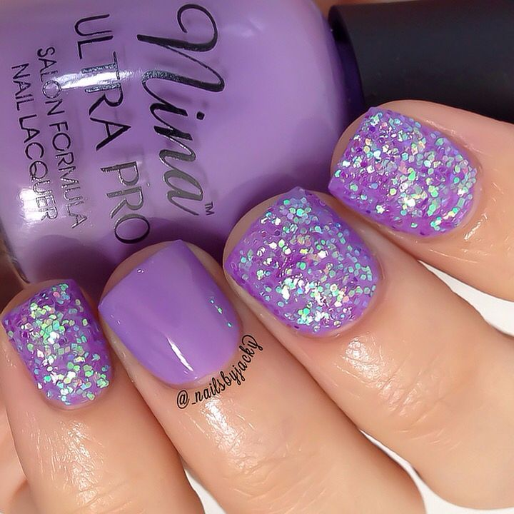 Loose purple glitter from @twinkled_t Base color is by; Nina Ultra ...