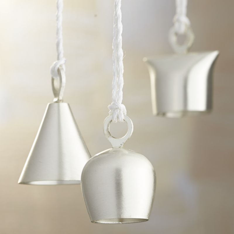 Silver Bells Decorations Silver Bell Ornaments  Crate And Barrel  Holidays  Pinterest