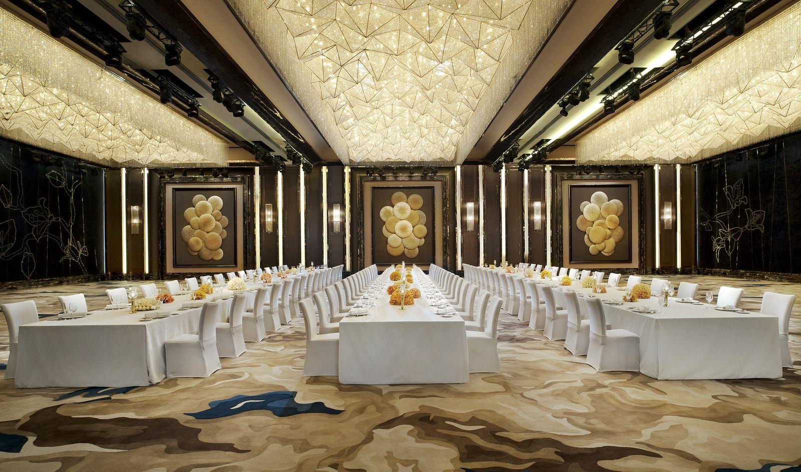 The St Regis Shenzhen Grand Ballroom Dinner Setup