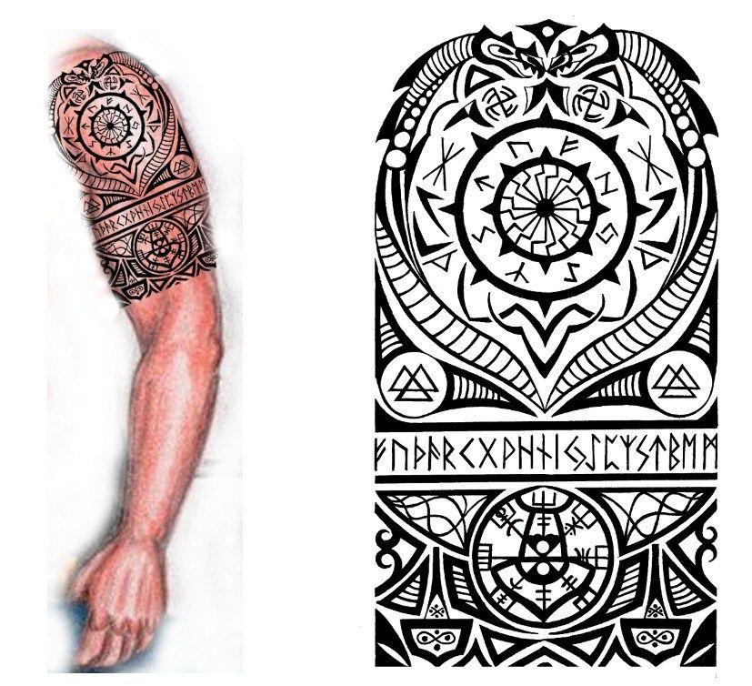 Viking Nordic Tattoo By Thehoundofulster On Deviantart Viking Tribal Tattoos Traditional Viking Tattoos Nordic Tattoo