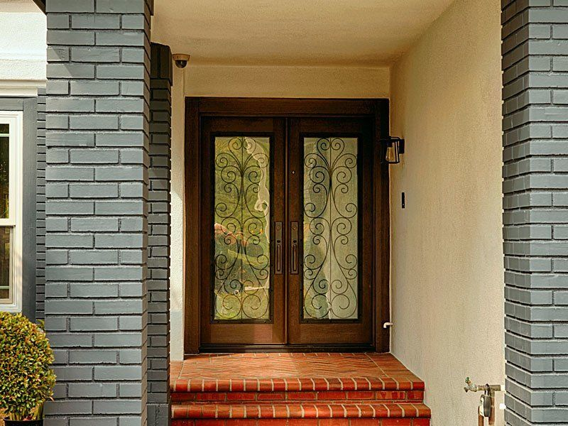 How To Choose Front Door Glass Inserts Double Entry Doors Entry Doors Double Front Doors