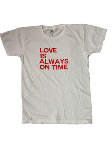 LOVE is always on time // white + red