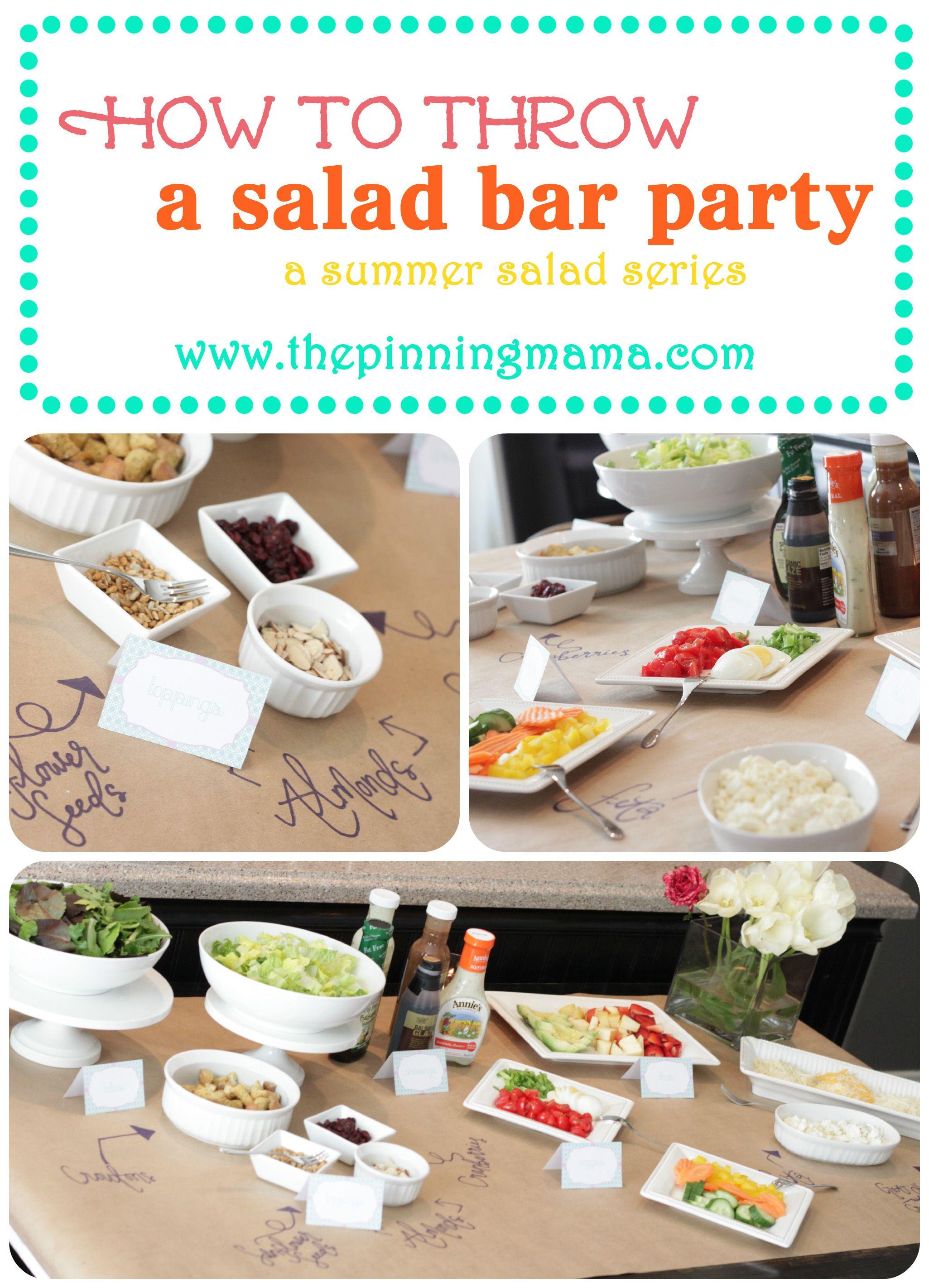 Salad Bar Party on Pinterest | Salad Bar, Taco Salad Bar ...