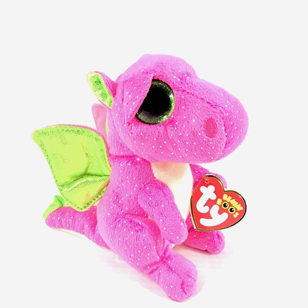 8ba5d30d16b TY Beanie Boos Darla Pink Dragon Plush 6