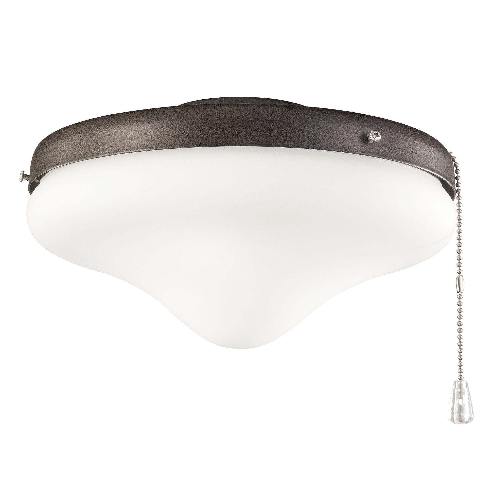 2 Light Schoolhouse Ceiling Fan Light Kit Lighting