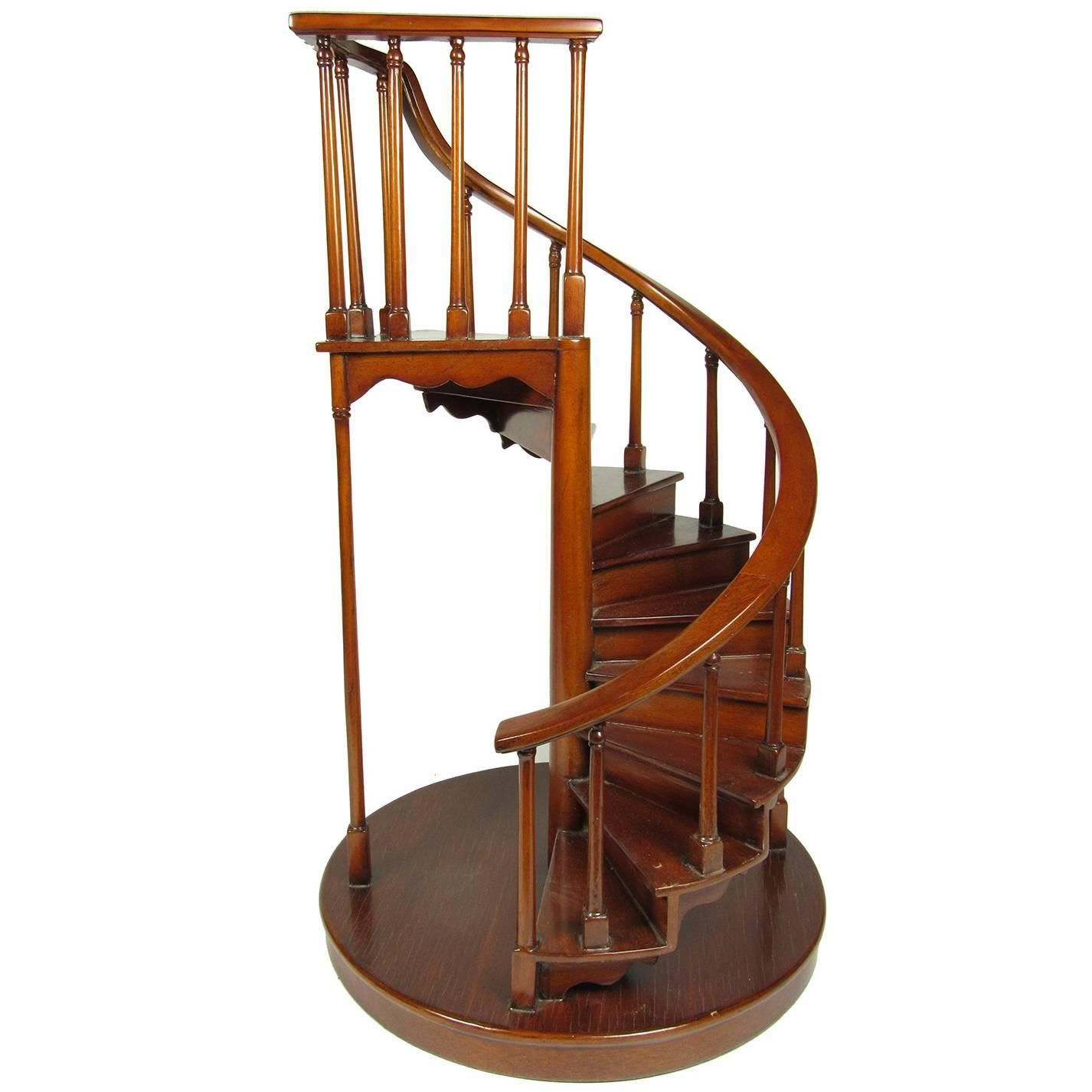 Best 19Th Century Mahogany Architectural Spiral Staircase Model 400 x 300