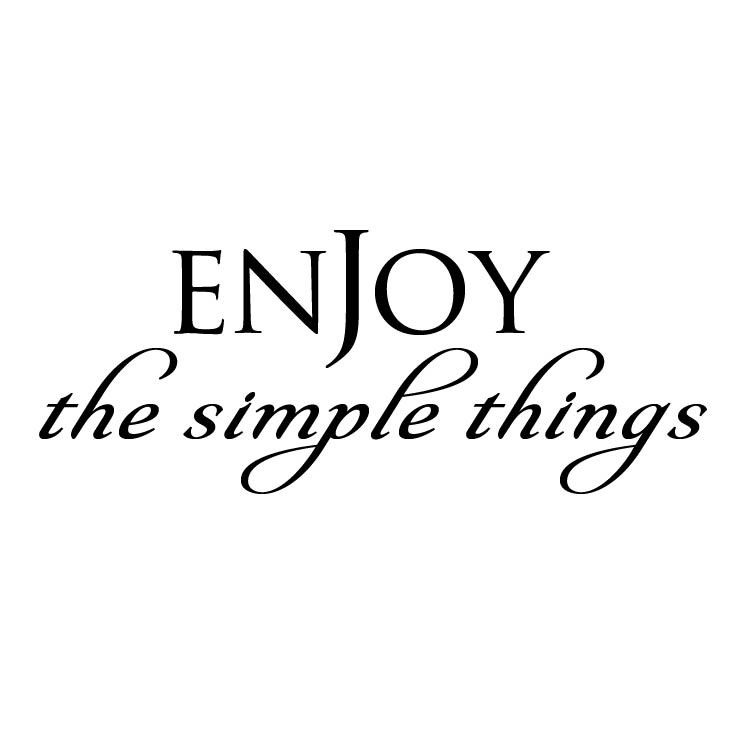 Enjoy the Simple Things Wall Decal