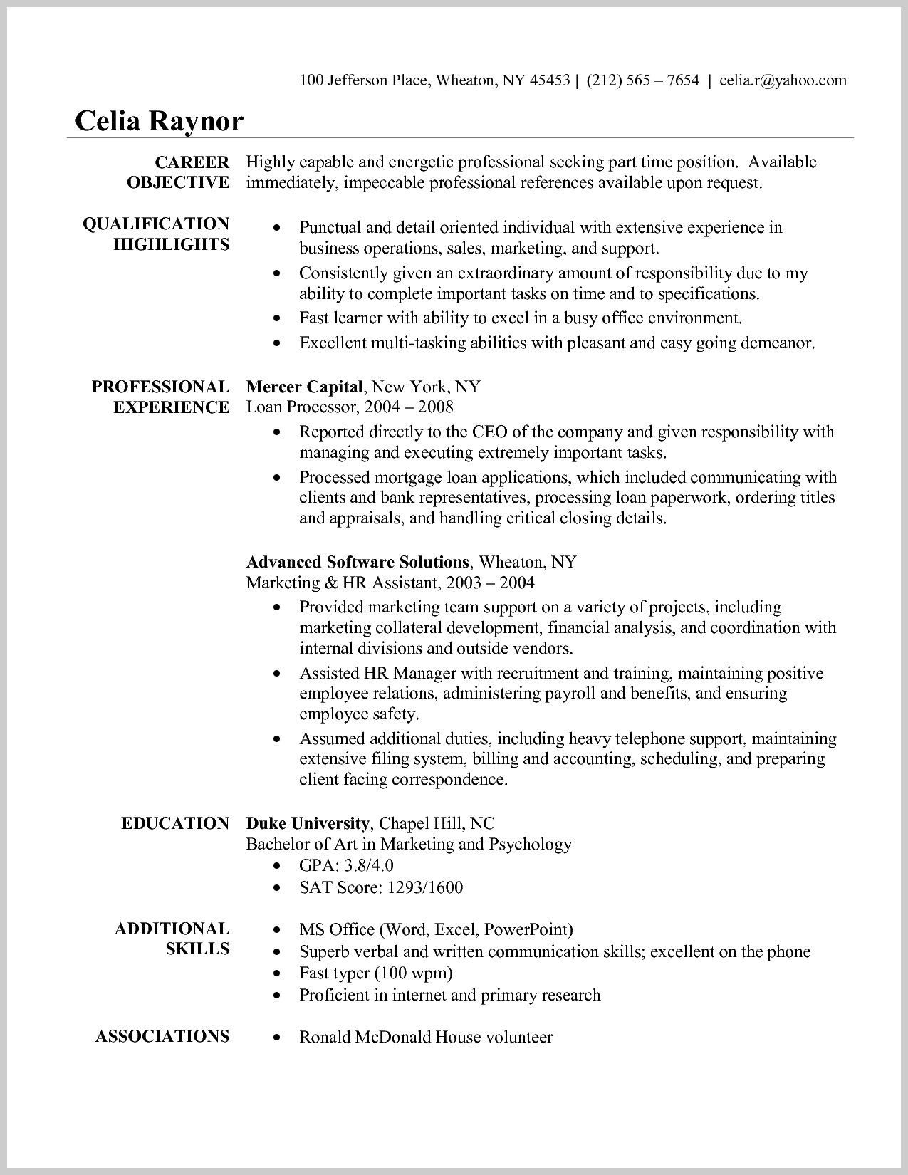 Resume Examples Quick Learner Resumeexamples