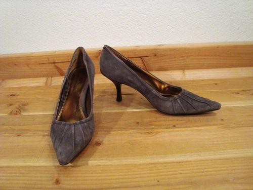 Womens Enzo Angiolini Rarely Dark Gray Suede Pumps Shoes Heels 9 | eBay