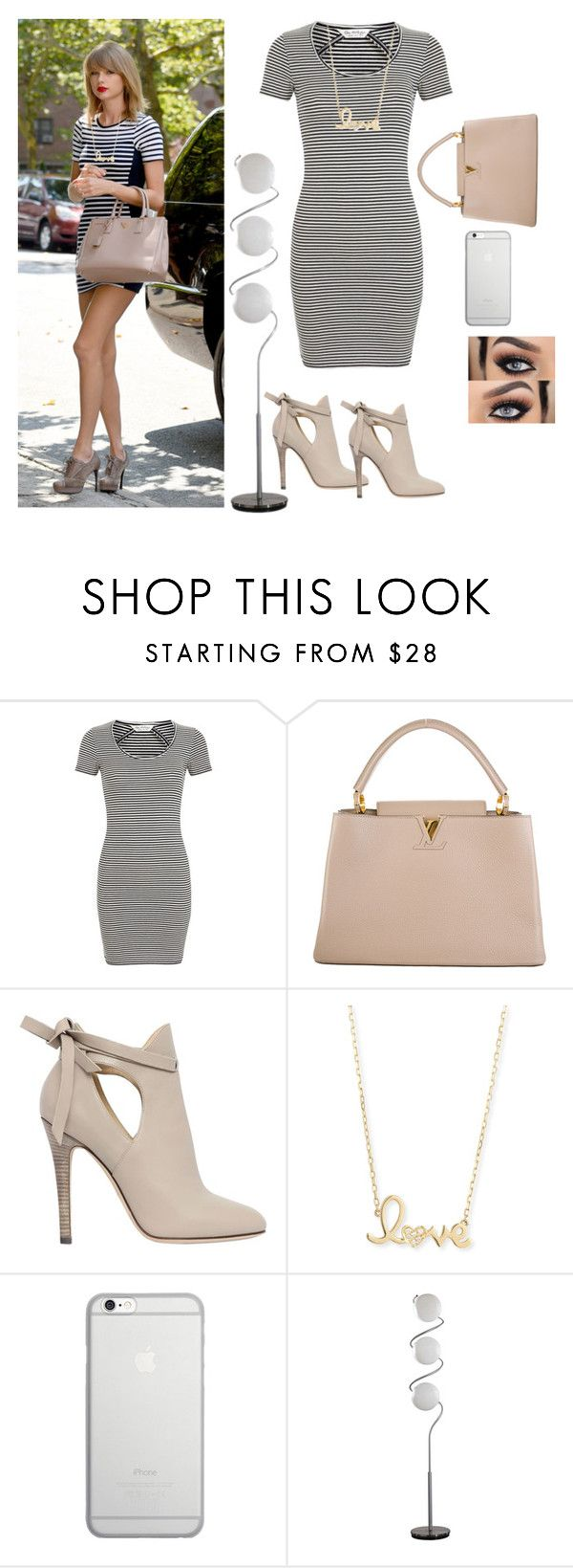 """""""My First Polyvore Outfit"""" by remooooo ❤ liked on Polyvore featuring Prada, Miss Selfridge, Louis Vuitton, Jimmy Choo, Sydney Evan and Native Union"""