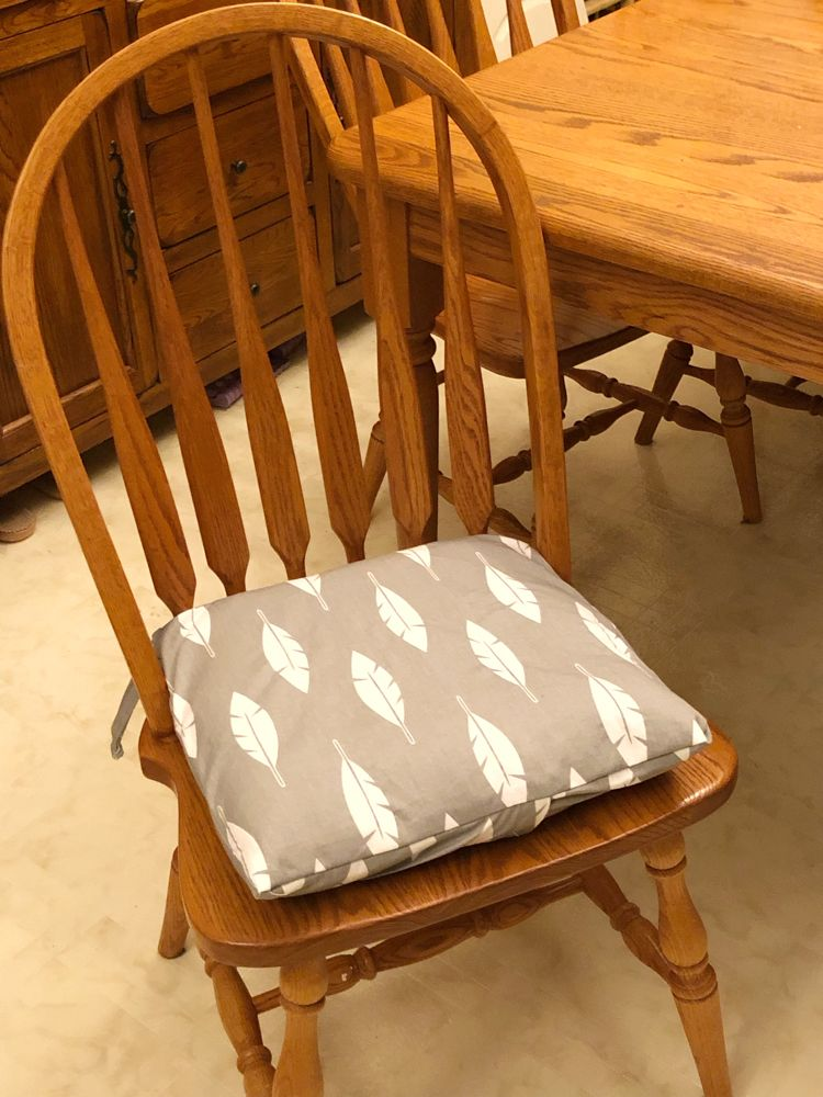 Simple Chair Cushion Covers With Chair Ties Pinterest Challenge Momhomeguide Com Kitchen Chair Covers Chair Cushion Covers Kitchen Chair Cushions