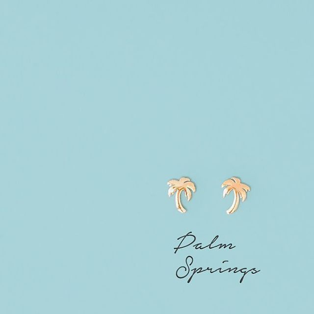 Bring a little piece of paradise with you wherever you go Shop our palm tree stud earrings now on the website!