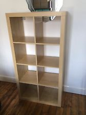 Ikea Kallax Expedit Shelving Unit Birch Effect 8 Compartments