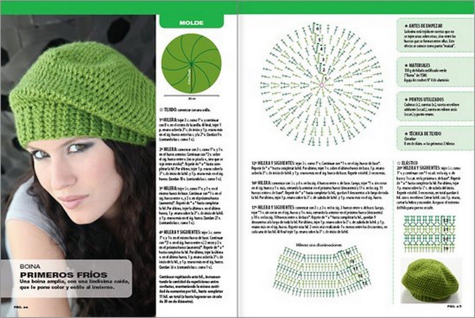 Manualidades ALOCADAS.: 82/13 GORROS | Touca | Pinterest | Crochet ...