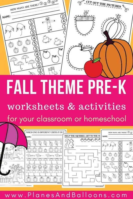 Preschool Activities For Fall Free Printable File To Fight Boredom