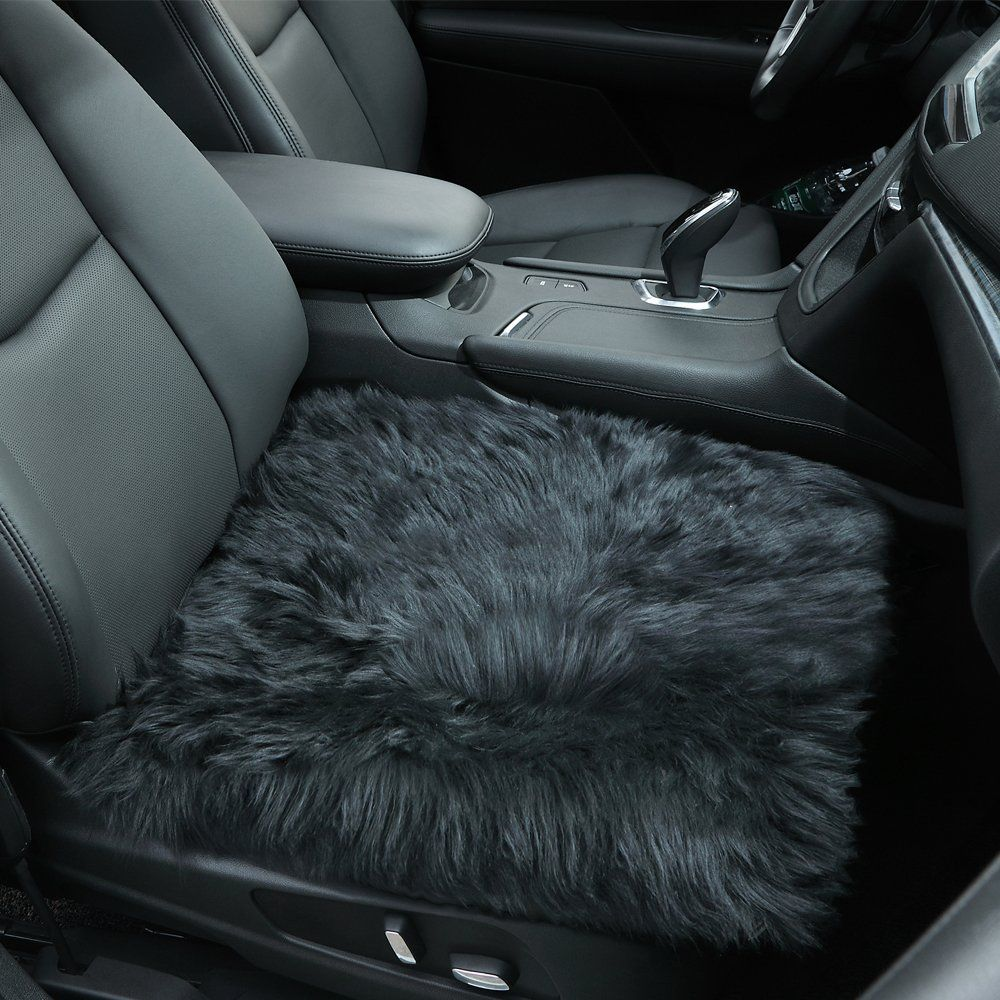Sheepskin Seat Covers Authentic Australian Soft Wool Car Warm Cushions Cover Pad For Winter Universal Fit Cars Auto Supplies Driver Office