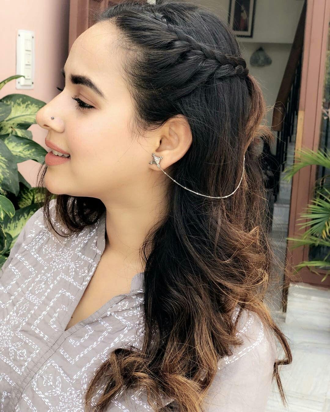 Hair Goals Follow Me Rishita Surve Pakistani Dresses Party Girl Hairstyles Cute Girl Poses